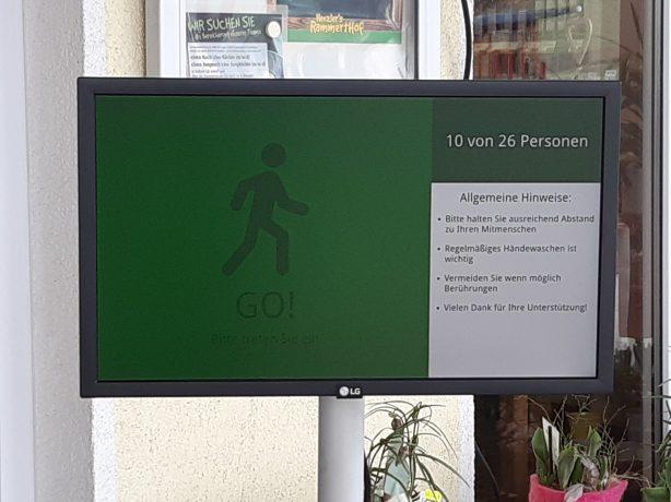 LCD Display für die Zugangskontrolle im Einzelhandel