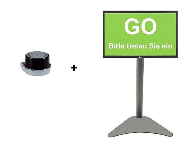 3D Besucher Scanner mit Display zur Einlasskontrolle