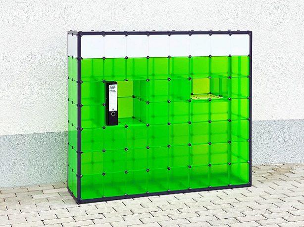 Raumtrenner mit Ablagefächer